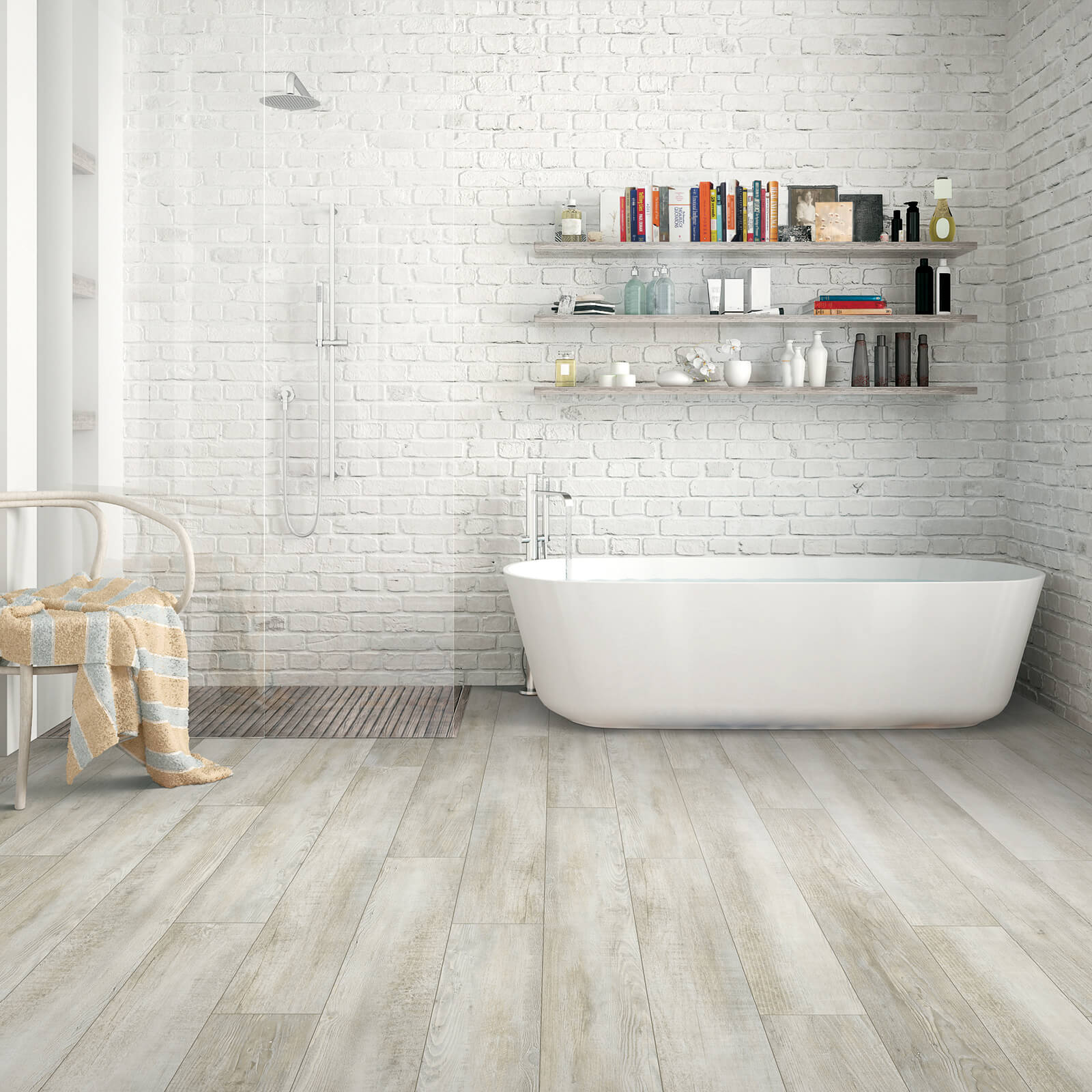 vinyl flooring in bathroom | Gilman Floors