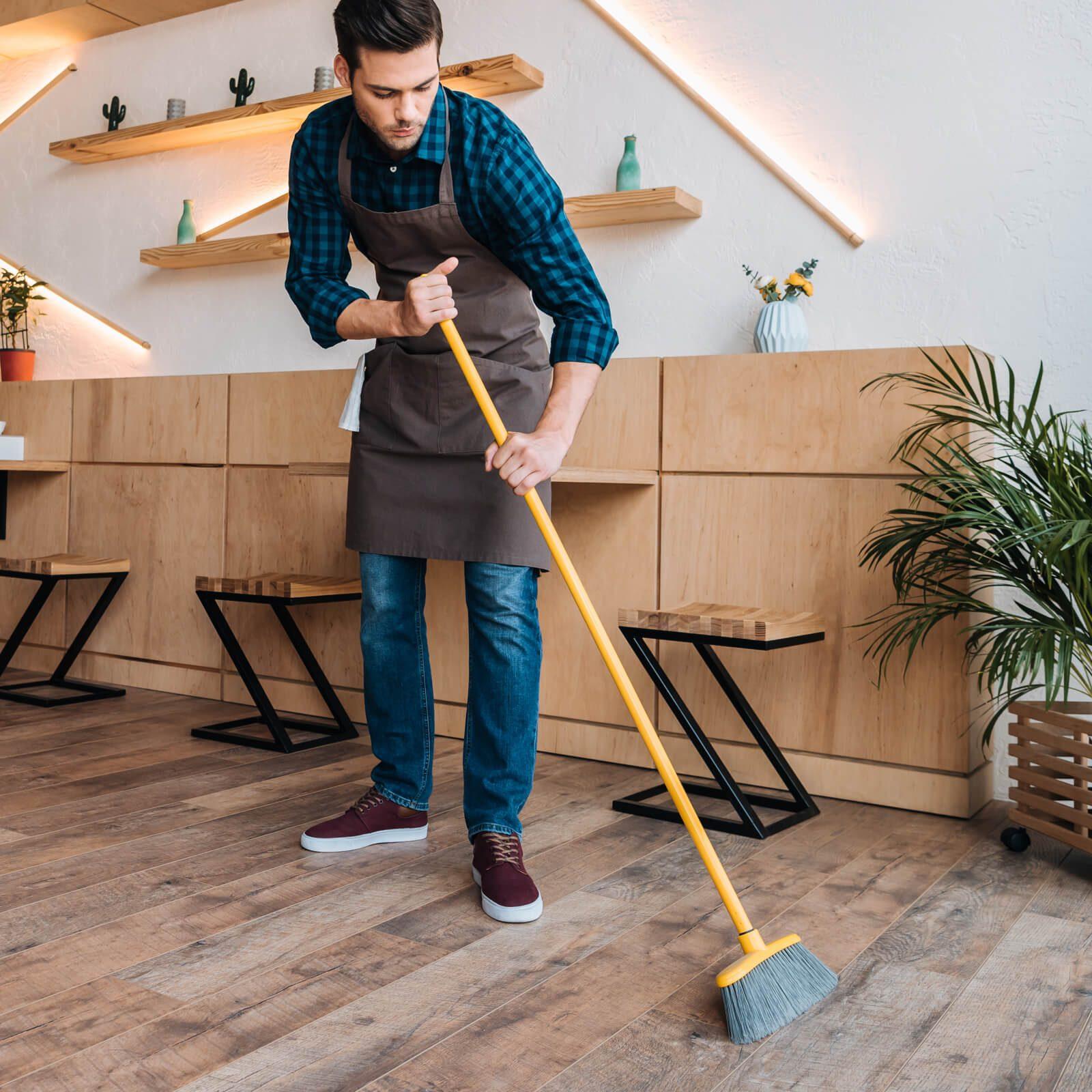Hardwood floor sweeping | Gilman Floors