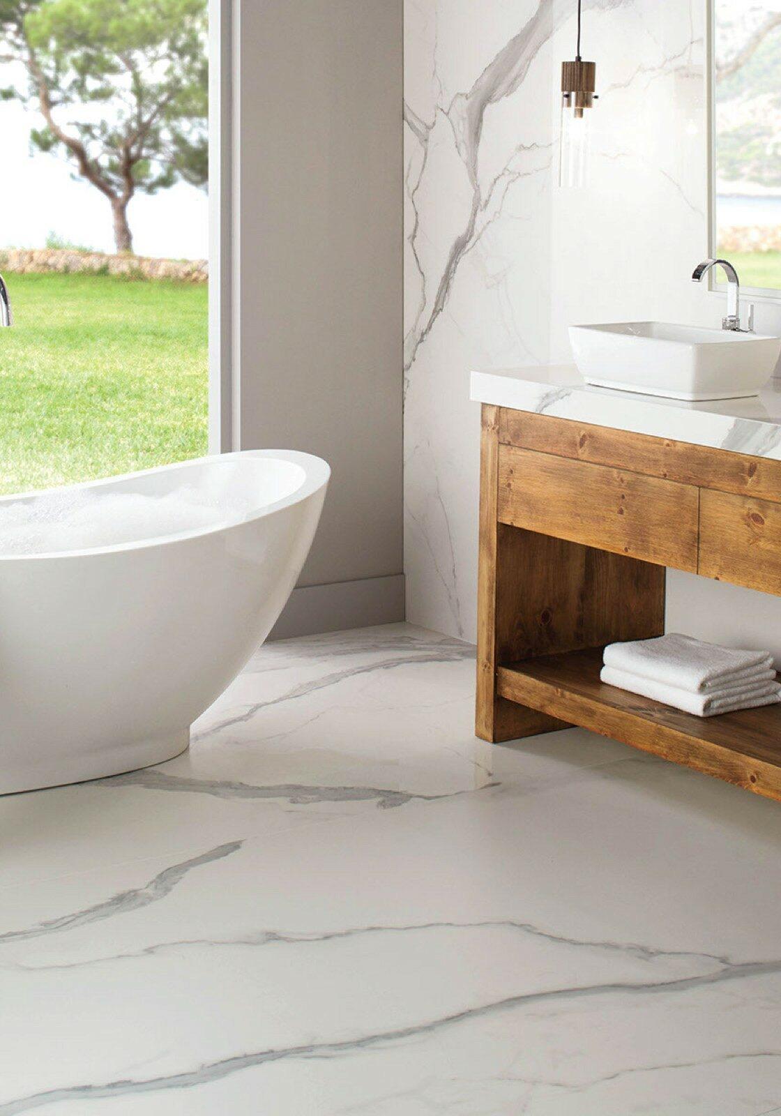 daltile tile in bathroom | Gilman Floors